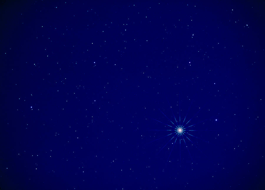 Constellation Of Leo With Jupiter Photograph