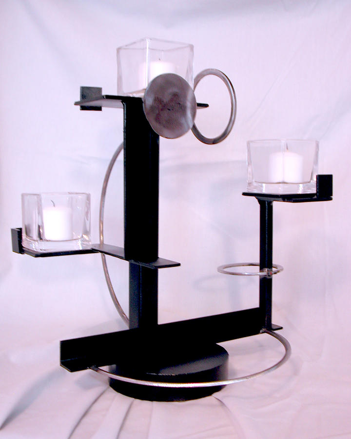 Constructivist Candle Holder Sculpture