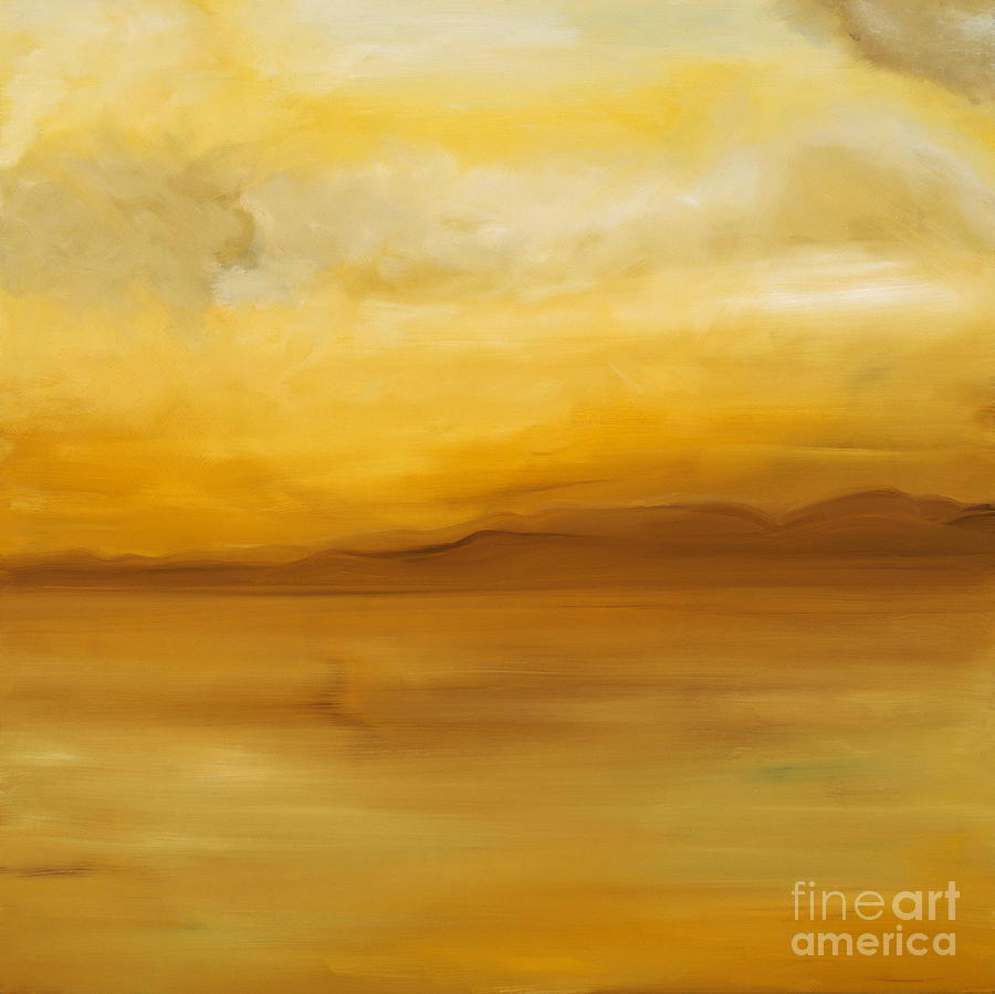 Contemporary Art Yellow Landscape Painting Light By Artdestiny Michele Morata