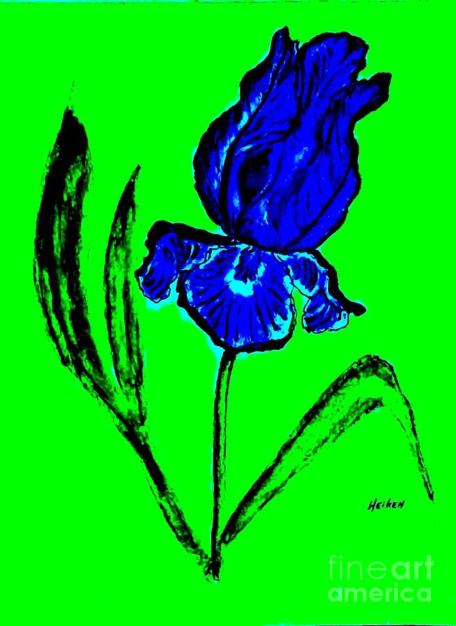 Contemporary Iris Painting