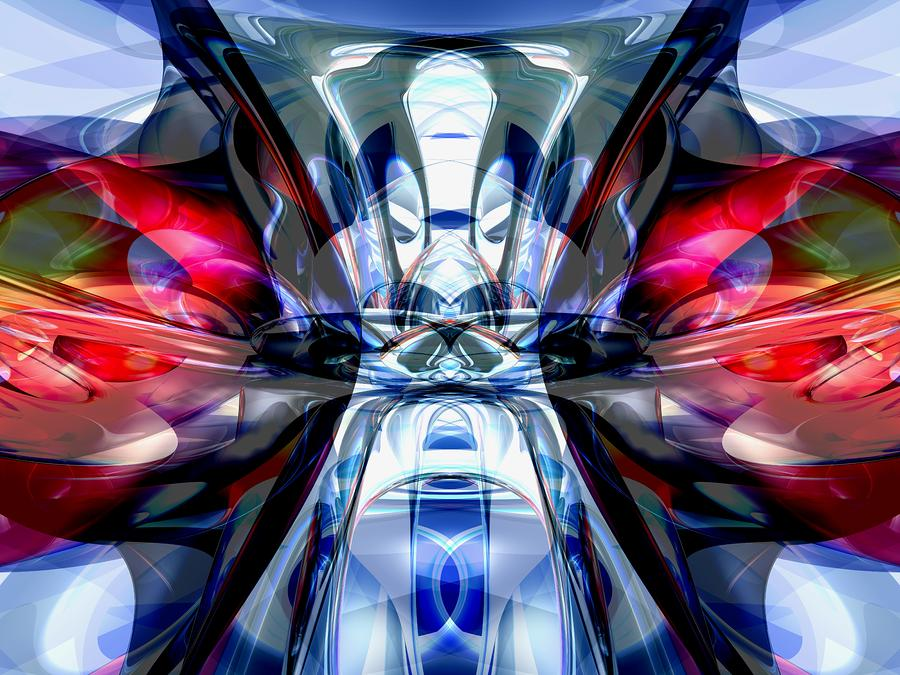 Convergence Abstract Digital Art  - Convergence Abstract Fine Art Print