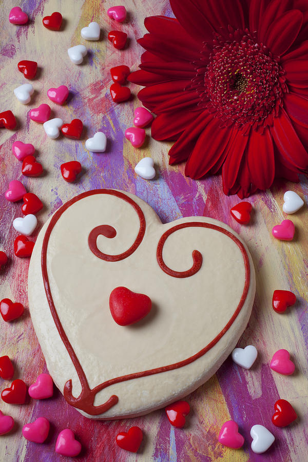 Cookie And Candy Hearts Photograph
