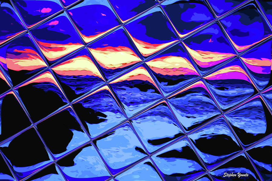 Cool Tile Reflection Digital Art  - Cool Tile Reflection Fine Art Print