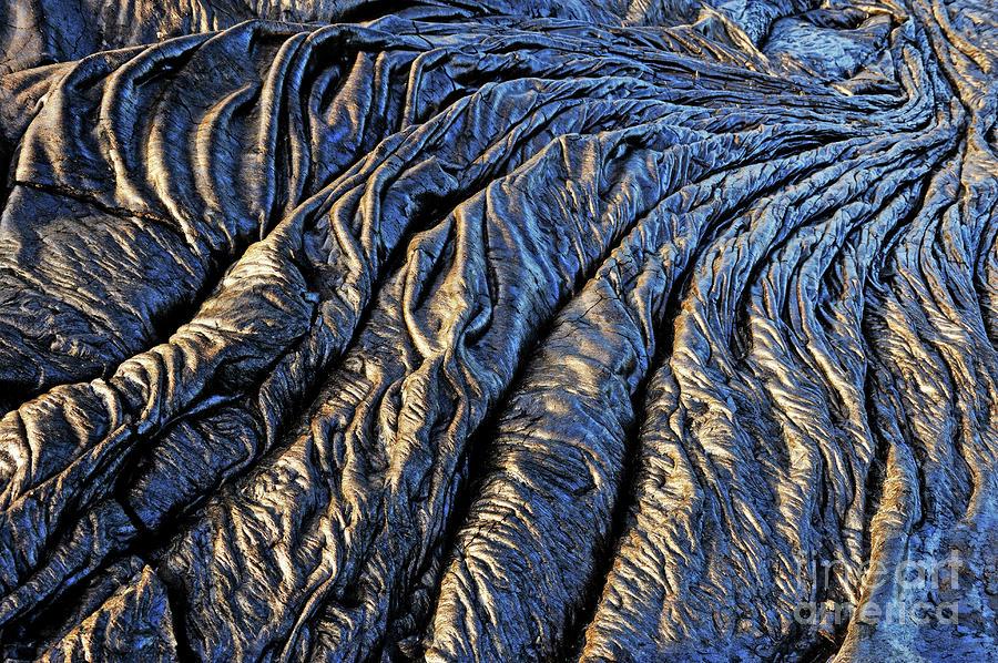 Cooled Pahoehoe Lava Flow Photograph