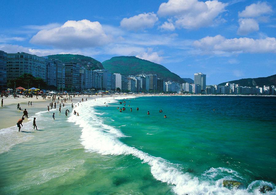 Copacabana Beach Rio De Janeiro High-Res Stock Photo