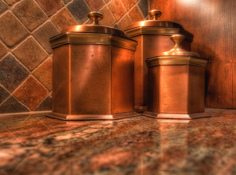 copper canisters kitchen - 28 images - vonshef 3pc kitchen