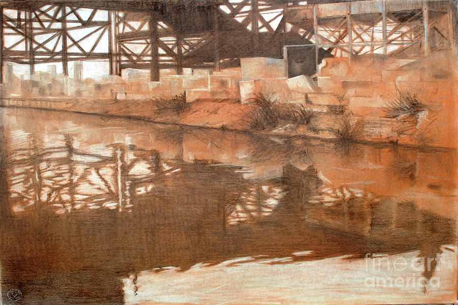 Coppery Waters Drawing