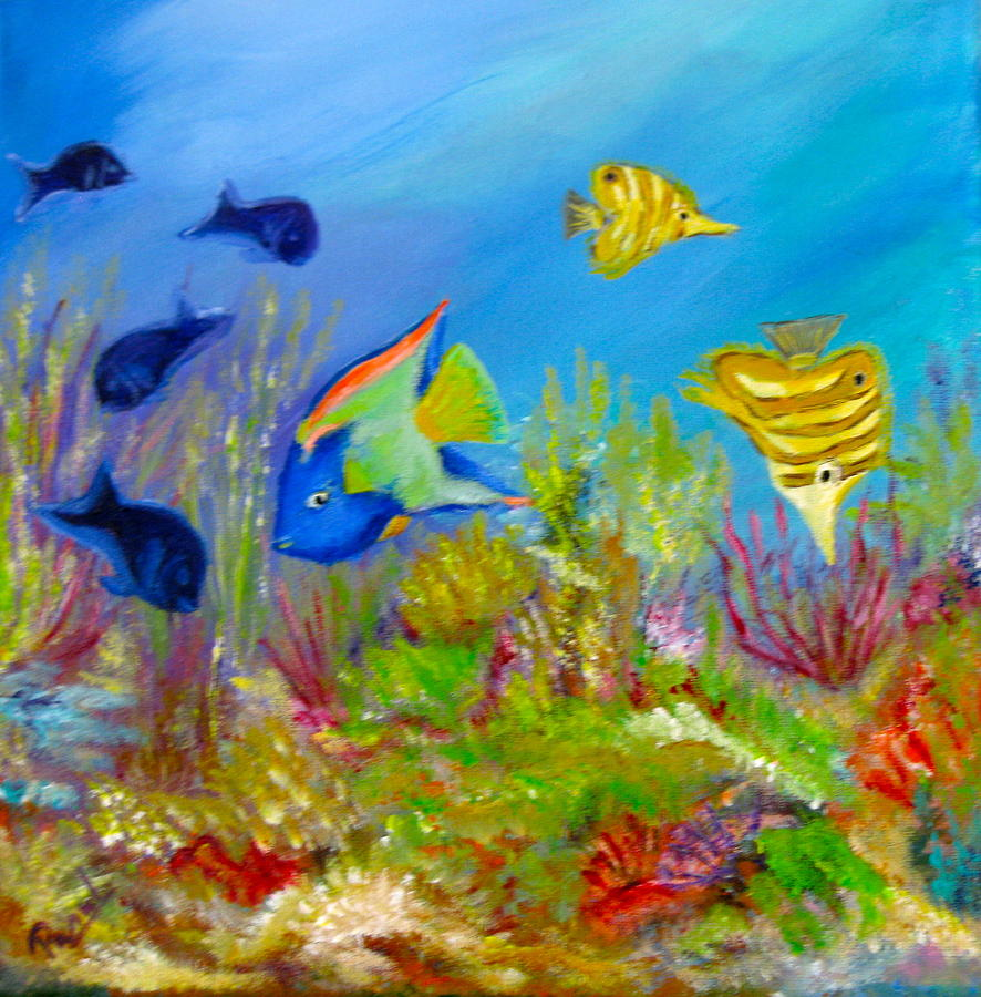 Coral Reef 1 Painting by Parul Mehta
