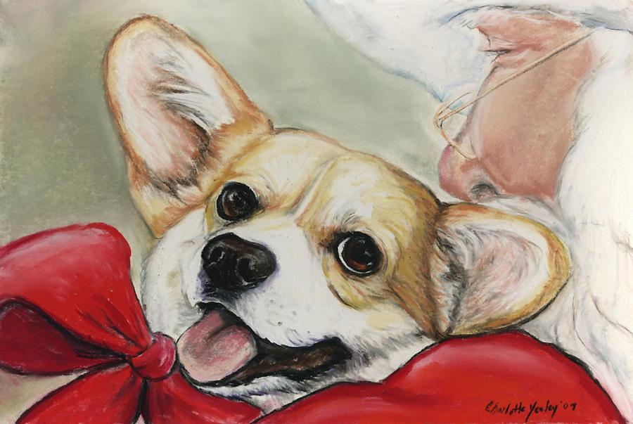 Corgi For Christmas Painting