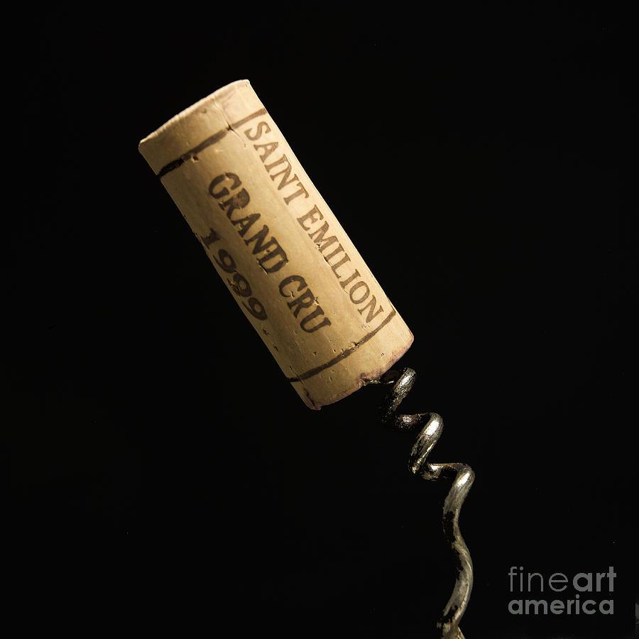 Bouchons Photograph - Cork Of Bottle Of Saint-emilion by Bernard Jaubert