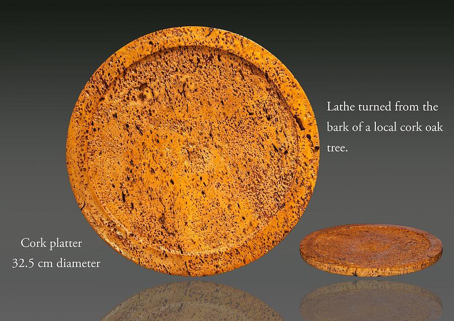 Cork Platter 32 Cm Sculpture