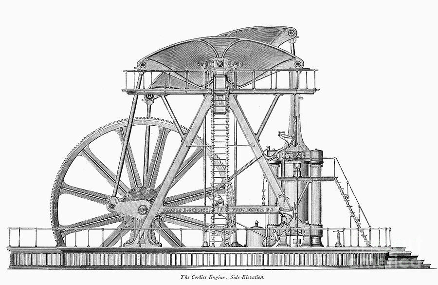 Corliss Steam Engine, 1876 Photograph