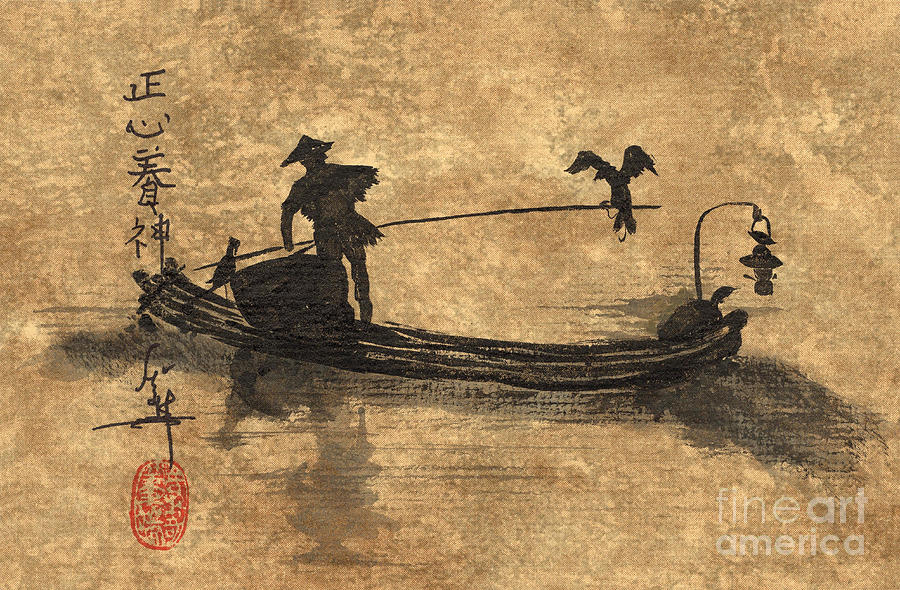 Movie Poster sample movie posters : Cormorant Fisherman On The Li River In China by Linda Smith