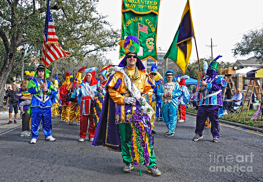 Corner Club 3 -mardi Gras New Orleans Photograph