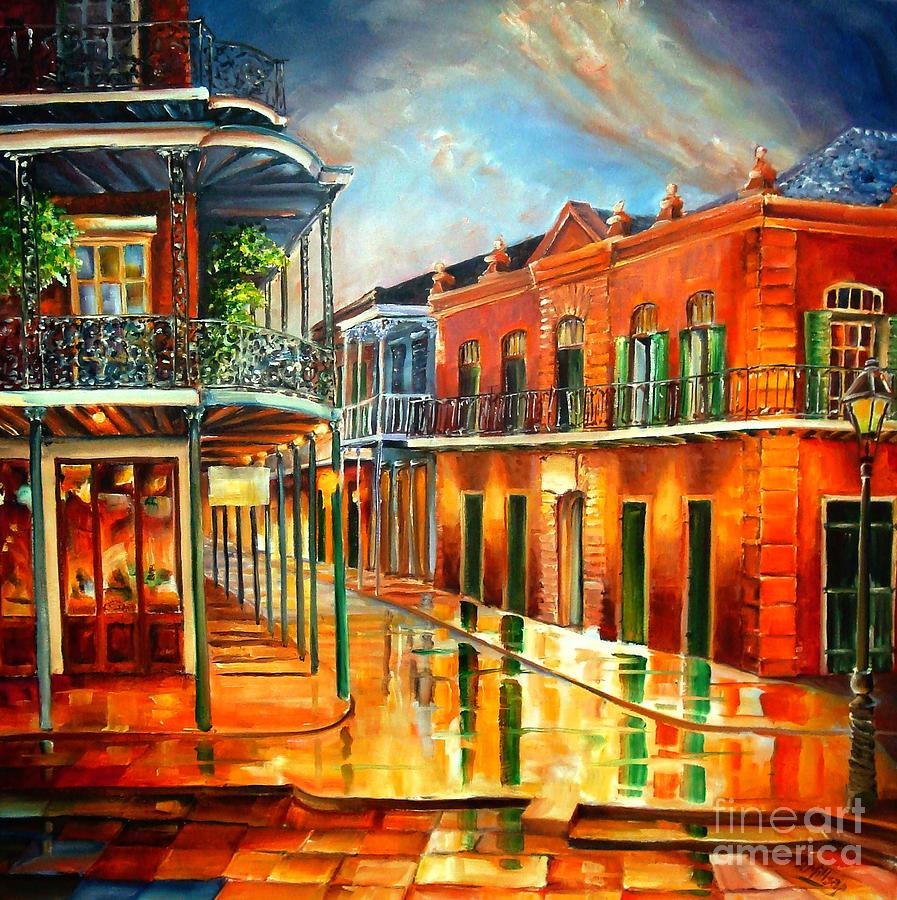Corner Of Jackson Square Painting  - Corner Of Jackson Square Fine Art Print