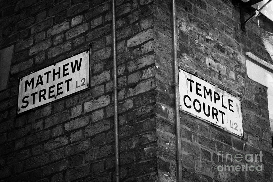 Corner Of Mathew Street And Temple Court In Liverpool City Centre Birthplace Of The Beatles  Photograph  - Corner Of Mathew Street And Temple Court In Liverpool City Centre Birthplace Of The Beatles  Fine Art Print