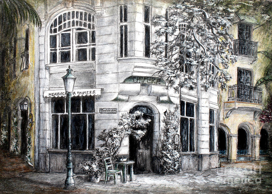 Architectural Drawings Painting - Corner Tea by Danuta Bennett