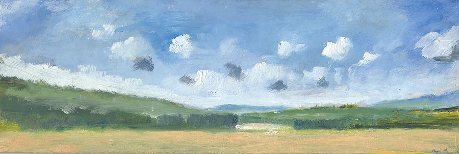 Cornfields Near Brading Painting  - Cornfields Near Brading Fine Art Print