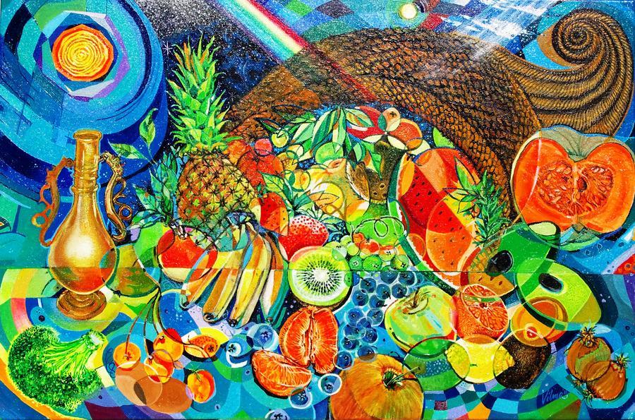 Cornucopia Painting - cornucopia by Mario Villareal