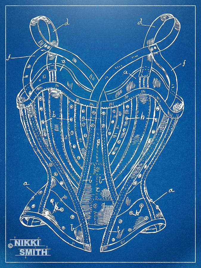 Corset Patent Series 1905 French Digital Art