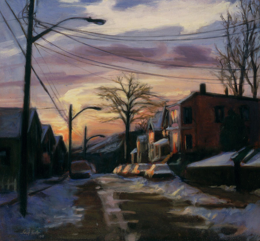 Corson Avenue - February Painting  - Corson Avenue - February Fine Art Print