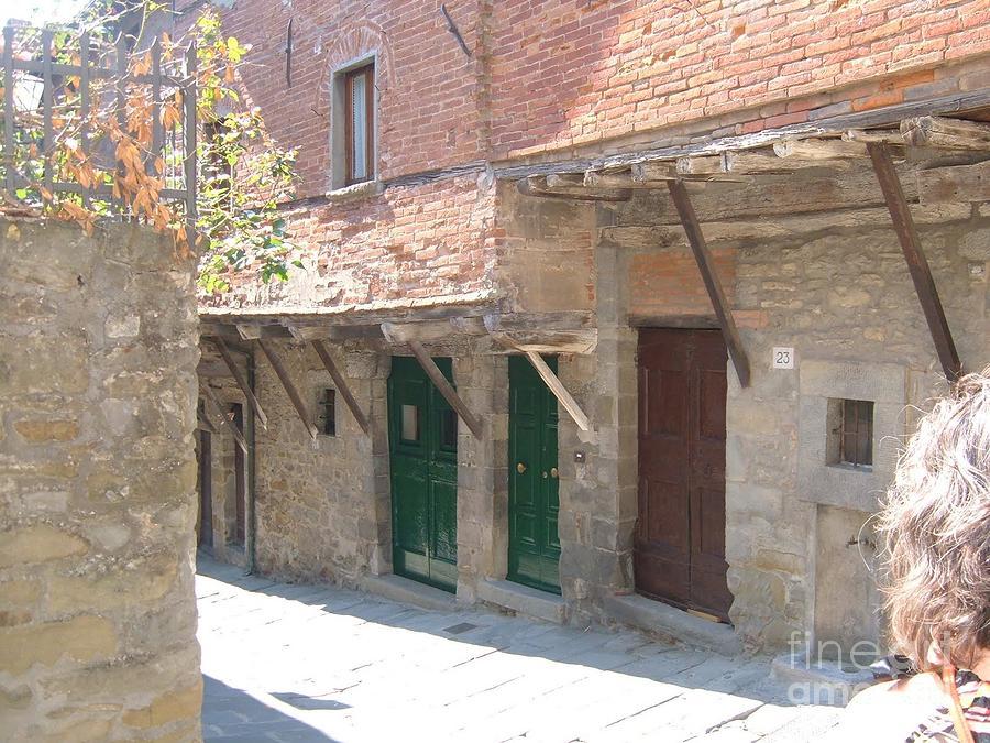 Cortona Photograph - Cortona Doorways by Brenda Berlin