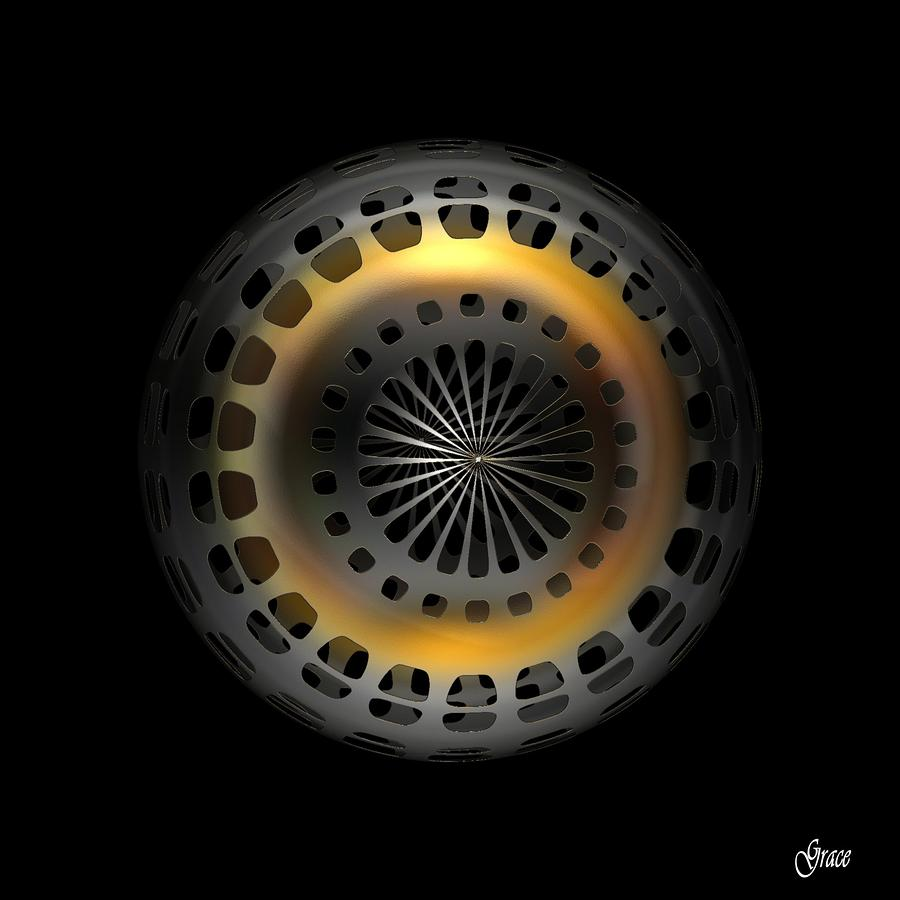 Cosmic Tire Digital Art  - Cosmic Tire Fine Art Print