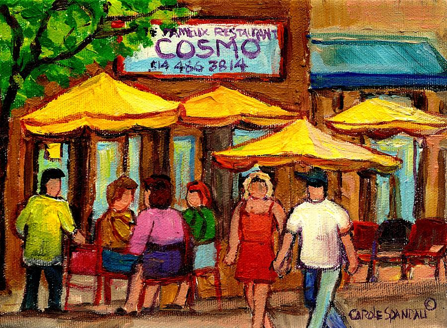 Cosmos  Fameux Restaurant On Sherbrooke Painting