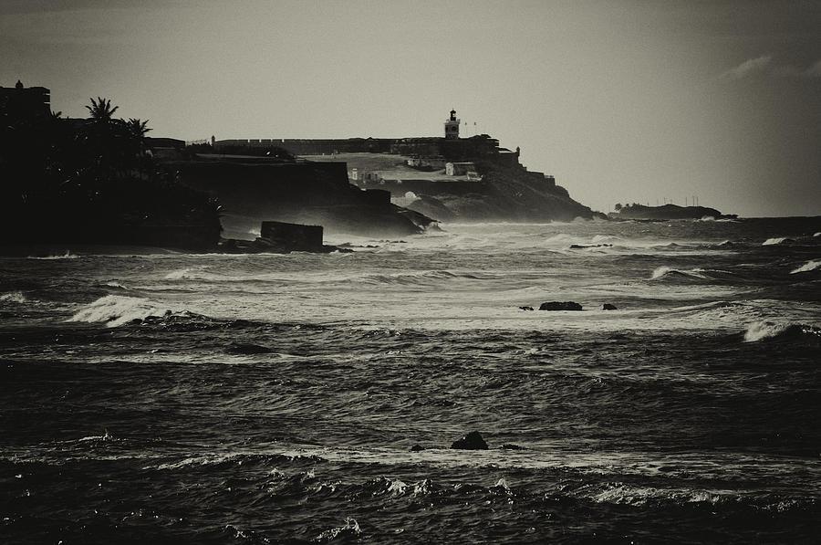 Sepia Photograph - Costa De San Juan by Mauricio Jimenez