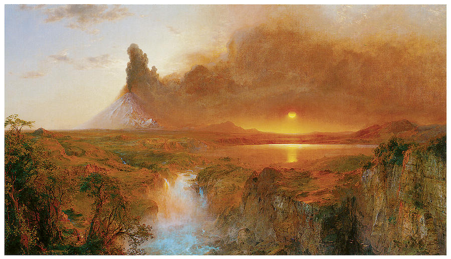 Cotopaxi by frederick edwin church for Frederick church paintings