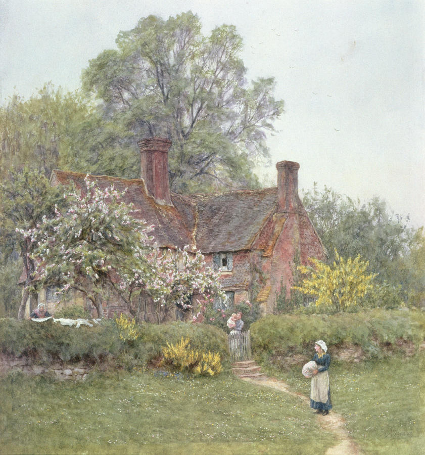 Cottage At Chiddingfold Painting  - Cottage At Chiddingfold Fine Art Print