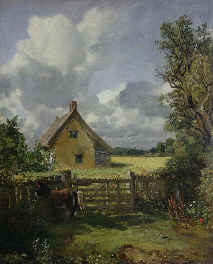 Cottage In A Cornfield Painting