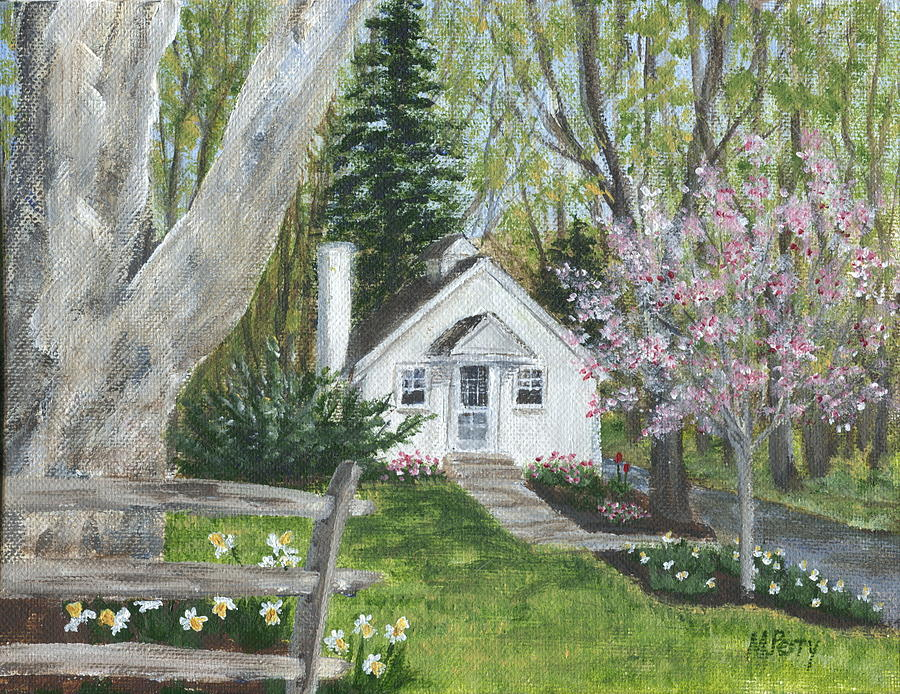 Cottage In Spring Painting By Margie Perry
