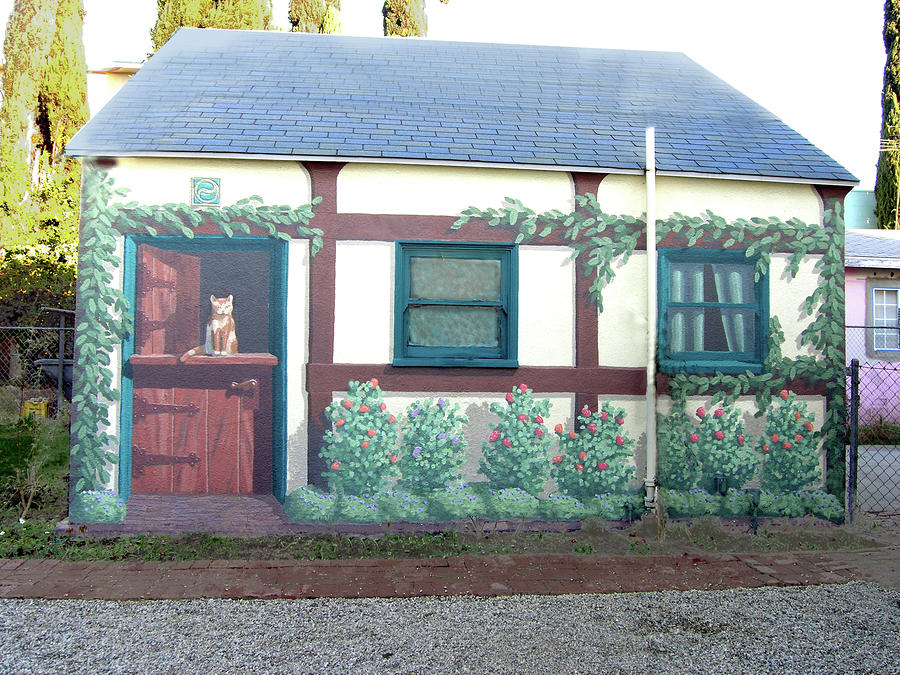 Cottage mural los angeles by tim cornelius for Cottages in los angeles