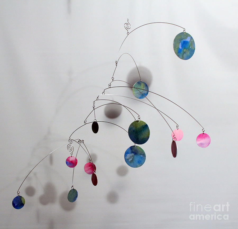 Cotton Candy Complexity Mobile Sculpture Sculpture  - Cotton Candy Complexity Mobile Sculpture Fine Art Print