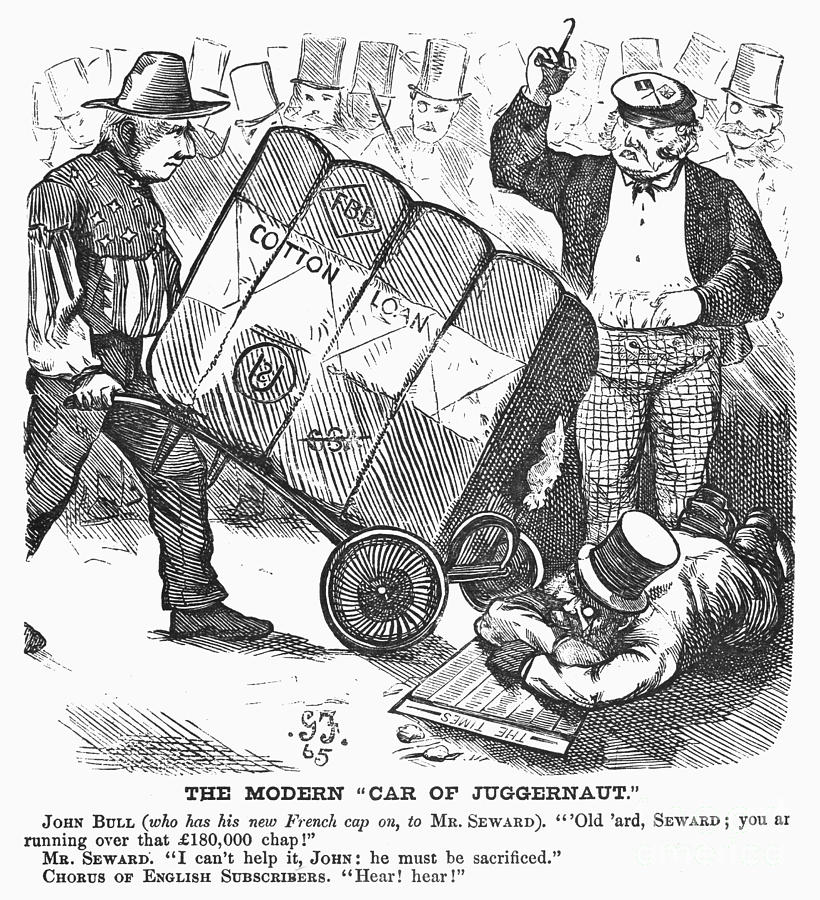 Cotton Loan Cartoon, 1865 Photograph  - Cotton Loan Cartoon, 1865 Fine Art Print