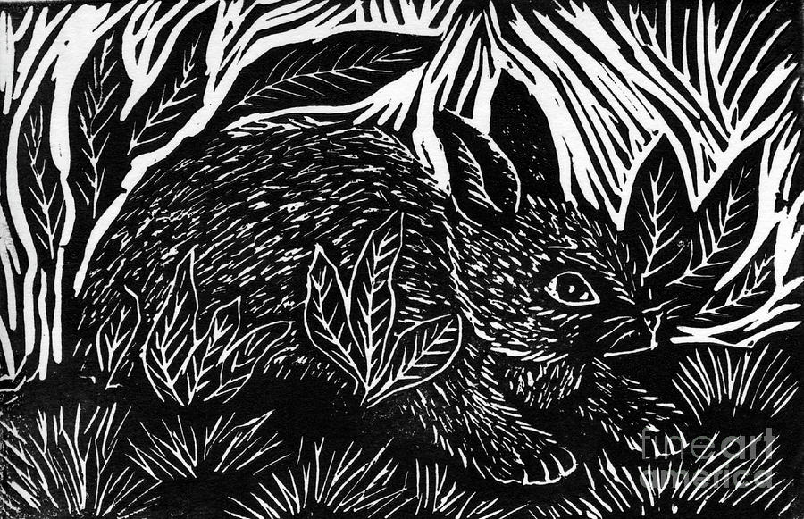 Cottontail Block Print Mixed Media