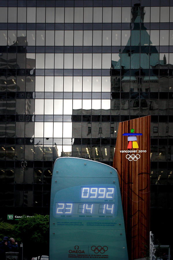 Countdown Clock Olympic Winter Games Vancouver Bc Canada 2010 Photograph