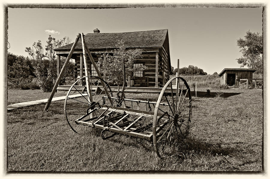 Grey Roots Museum & Archives Photograph - Country Classic Monochrome by Steve Harrington