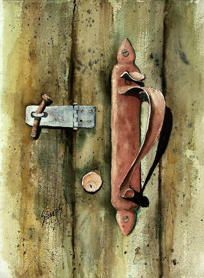 Country Door Lock Painting  - Country Door Lock Fine Art Print