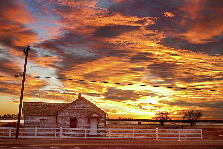 Country House Sunset Longmont Colorado Boulder County Photograph