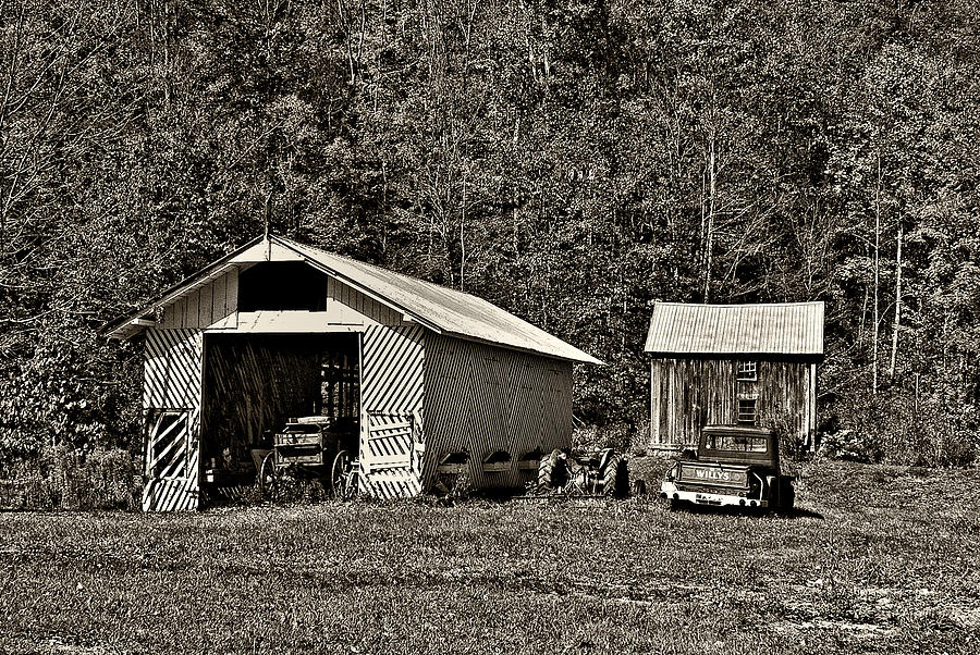 Country Life Sepia Photograph  - Country Life Sepia Fine Art Print