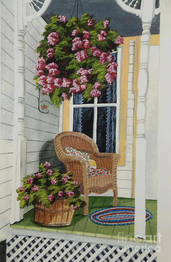 Country Porch Painting  - Country Porch Fine Art Print