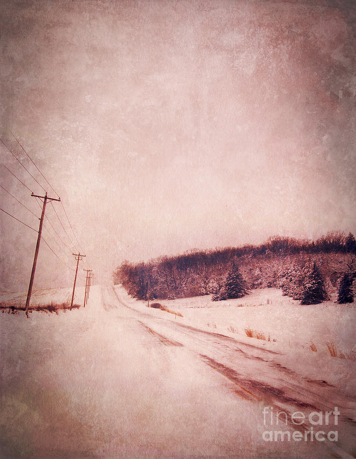 Country Road In Snow Photograph