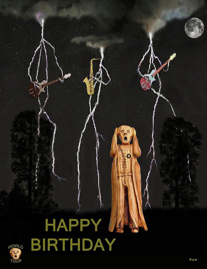 Country Scream Happy Birthday Mixed Media