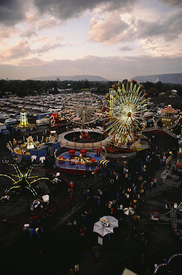 County Fair, Yakima Valley, Rides Photograph  - County Fair, Yakima Valley, Rides Fine Art Print