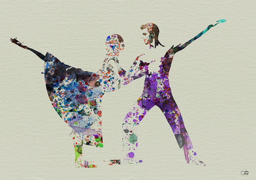 Couple Dancing Ballet Painting