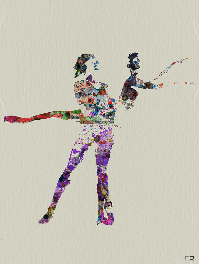 Painting - Couple Dancing by Naxart Studio