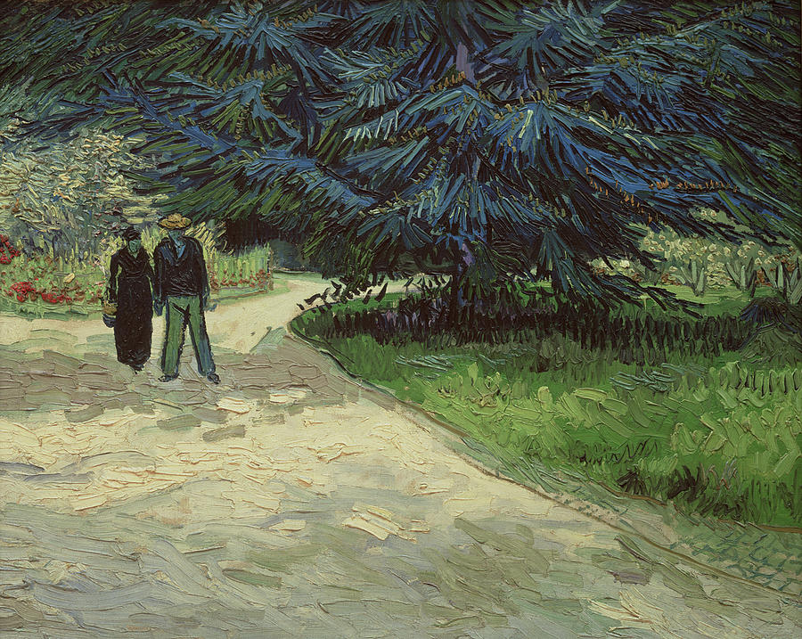 Couple In The Park Painting  - Couple In The Park Fine Art Print