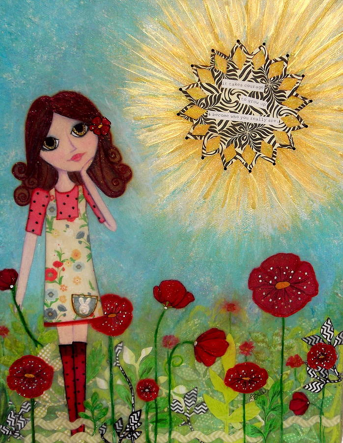 Courage Mixed Media  - Courage Fine Art Print